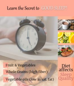 Diet Affects Sleep Quality